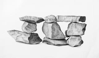 ROD TITUS Still Life - Nine Rocks PI / Description