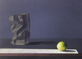 ROD TITUS Still Life - Paper Bag and Lemon OC / Description