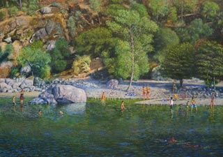 ROD TITUS Individual Works - Bathers on the Yuba River OC / Description